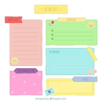 Do listy z kolorowych notatek zrobić