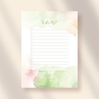 Do zrobienia lista papieru z akwarelą w kwiaty i abstrakcyjne