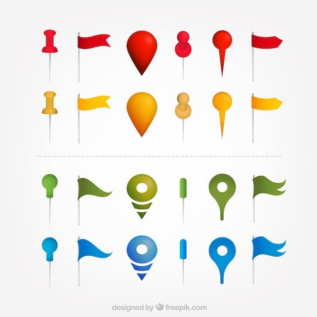 Dobór map wskaźniki w różnych kolorach