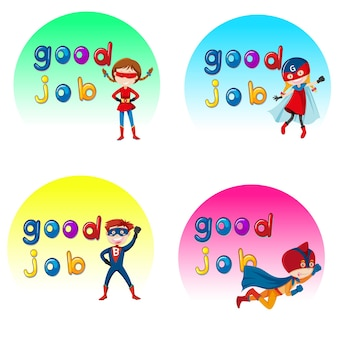 Dobra robota naklejki z postaciami superbohaterów