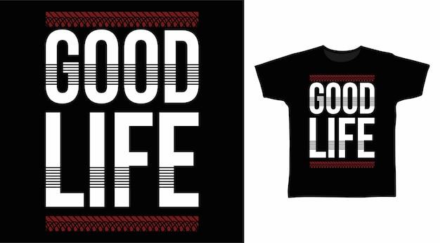 Dobra typografia życia do projektowania koszulek