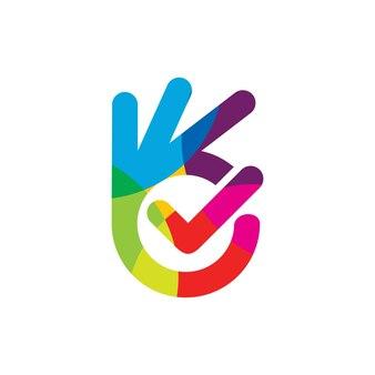 Dobre kolorowe logo pełne