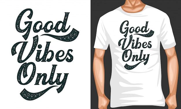 Dobre wibracje litery cytuje typografię