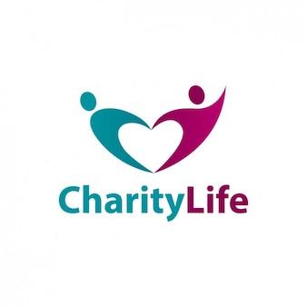 Dobroczynność życie abstrakcyjne logo