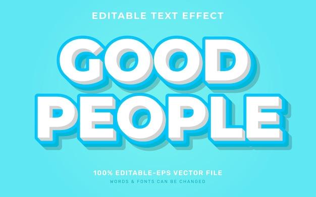 Dobry efekt tekstowy dla ludzi