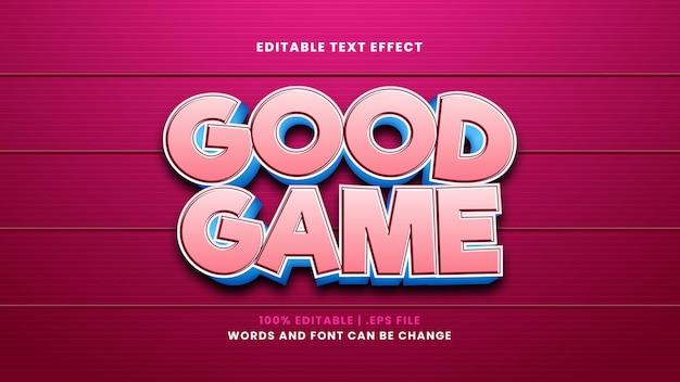 Dobry efekt tekstowy do edycji w nowoczesnym stylu 3d