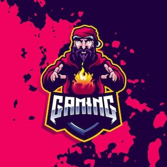 Dobry projekt logo gier dla sportu lub e-sportu