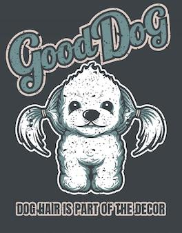 Dobry wizerunek psa w stylu vintage może być stosowany do plakatów na koszulkach i produktach z nadrukiem.