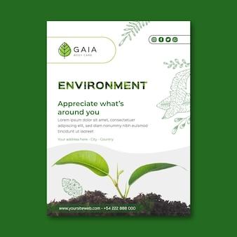 Doceń szablon ulotki środowiska naturalnego