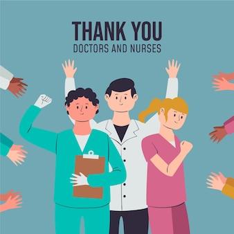 Docenienie lekarzy i pielęgniarek