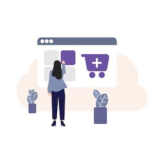 Dodaj do koszyka, ikona dodaj do koszyka, rynek, marketing, aplikacja mobilna, kupowanie ludzi, grafika komputerowa, koszyk, zakupy online, e-commerce