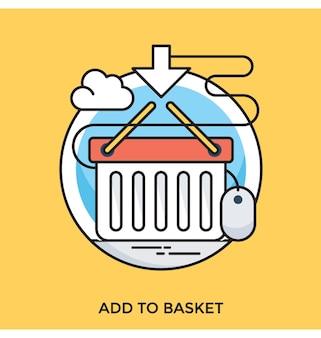 Dodaj do koszyka płaskie wektor ikona