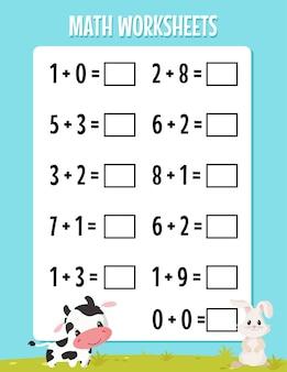 Dodatek matematyczny do arkusza przedszkolnego