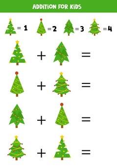 Dodatek z jodłami bożonarodzeniowymi