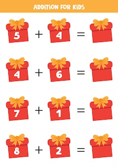 Dodatek z pudełkami na prezenty świąteczne.