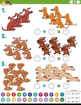 Dodatkowe zadanie edukacyjne matematyki z psami