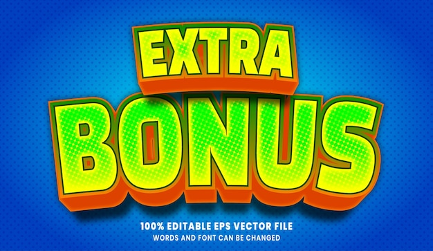 Dodatkowy bonus 3d edytowalny efekt stylu tekstu
