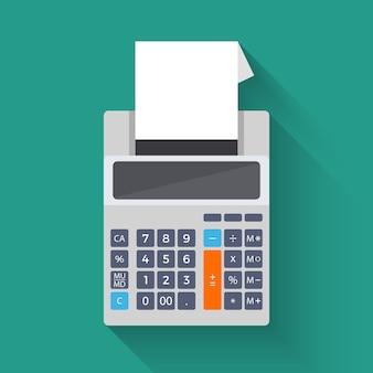 Dodawanie maszyny liczącej, płaska ilustracja wektorowa kalkulatora