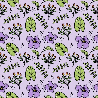 Doddle kwiatowy wzór bez szwu
