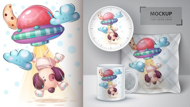 Dog ufo - plakat i merchandising