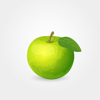 Dojrzałe zielone jabłko