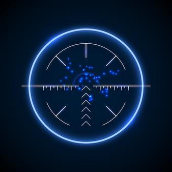 Dokładny celownik snajperski, neonowy cel świetlny