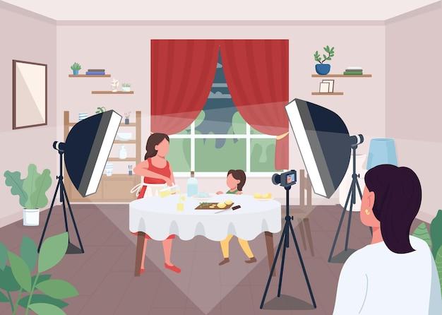 Dokonywanie ilustracji płaski kolor lemoniady. tworzenie świeżych, naturalnych napojów cytrusowych. samouczek, jak zrobić słodką sodę cytrynową. postaci z kreskówek żywności orzeźwiającej z domu na tle