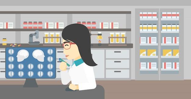 Doktor analizuje skan mri