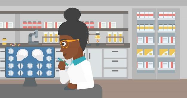 Doktor analizuje skan mri.