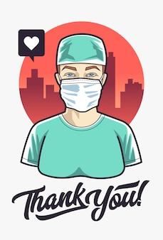 Doktor kobieta dziękuję