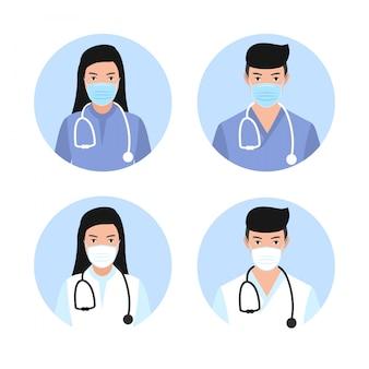 Doktor mężczyzna i kobieta