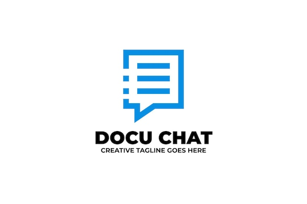 Dokument technologia bubble chat logo