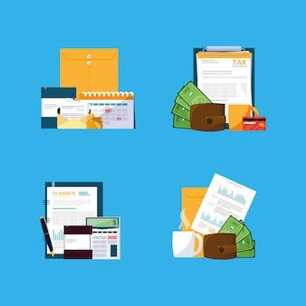 Dokumenty i elementy zestawu biurowego