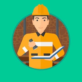 Dokumenty kontrolne górnika.