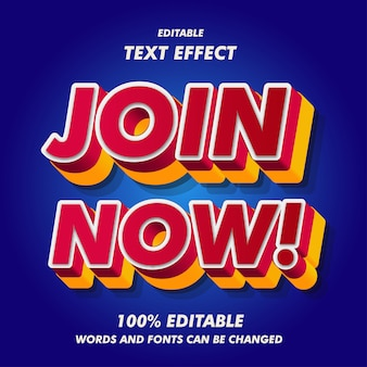 Dołącz teraz! efekty tekstowe
