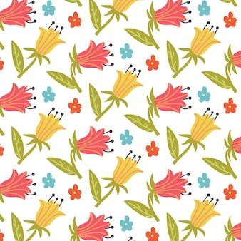 Dolina lilii bez szwu kwiatowy wzór
