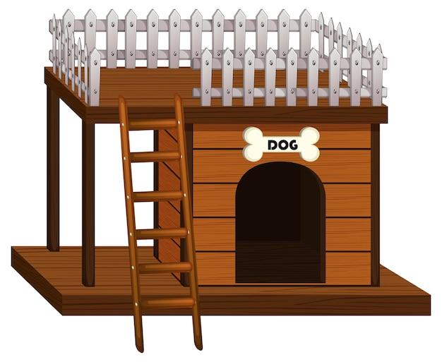 Dom dla psa wykonany z drewna