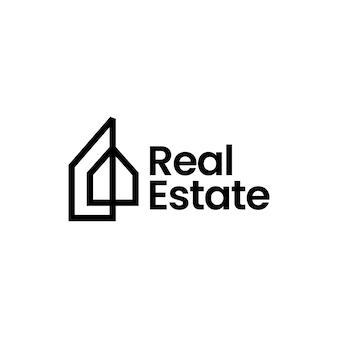 Dom domu nieruchomości hipotecznych architektura logo wektor ikona ilustracja