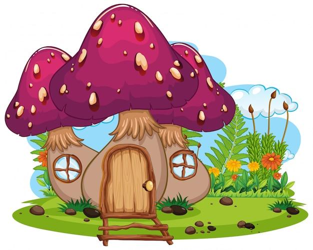 Dom grzybów fantasy