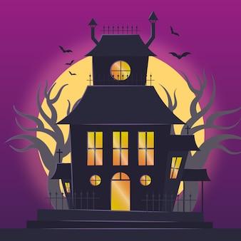 Dom halloween w realistycznym stylu