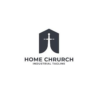 Dom i chrurch logo premium