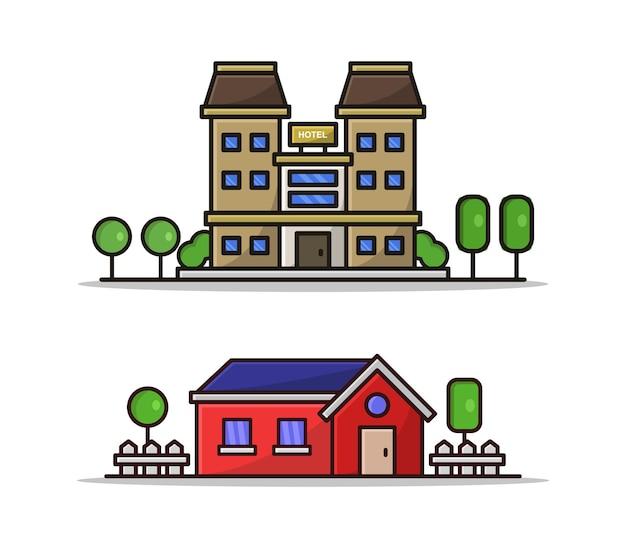 Dom i hotel z kreskówek