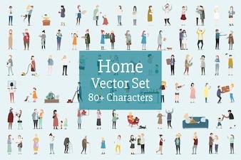 Dom i rodzina wektor