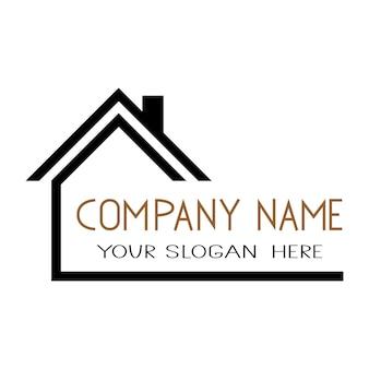 Dom ikona wektor prosty płaski symbol. solidne liniowe logo domu