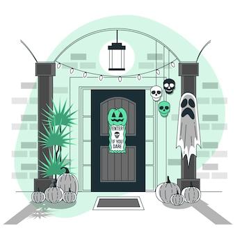 Dom ilustracja koncepcja dekoracji halloween