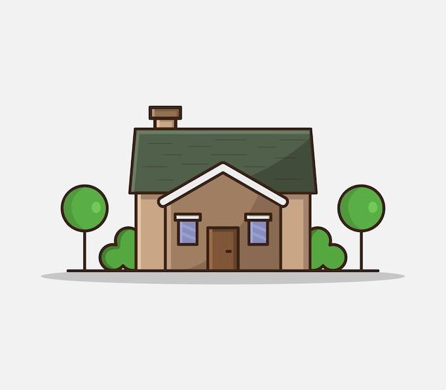 Dom ilustrowany kreskówek