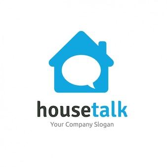 Dom kształcie logo szablon