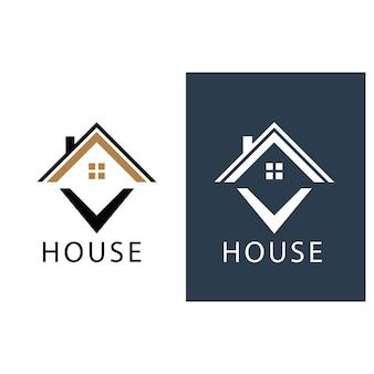 Dom logo i symbol grafika wektorowa
