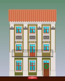 Dom mieszkalny w stylu klasycyzmu.