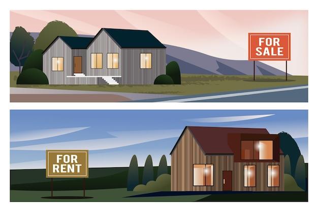 Dom na sprzedaż ilustracji